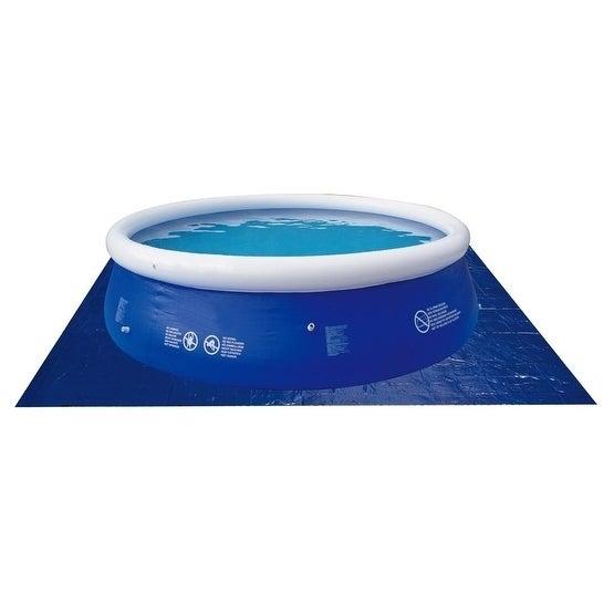 15' Square Blue Swimming Pool Ground Cloth