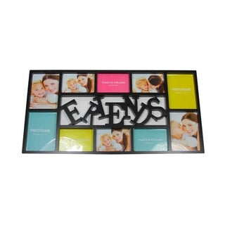 """28.75"""" Black Dual-Sized """"Friends"""" Photo Picture Frame Collage Wall Decoration"""