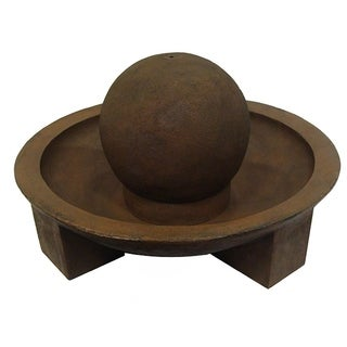 Brown Stone 31-inch Outdoor Water Fountain