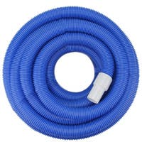 Blue Blow-Molded PE In-Ground Swimming Pool Vacuum Hose with Swivel Cuff - 100' x 1.5""