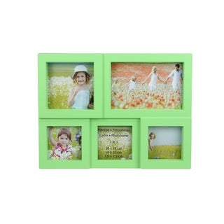 """11.5"""" Green Multi-Sized Puzzled Photo Picture Frame Collage Wall Decoration"""