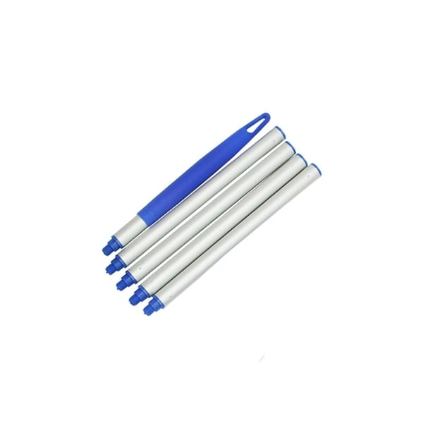 5-Piece Aluminum Swimming Pool Straight Extension Pole for Skimmers - 4' - Silver