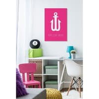 Hope Love Dream Neon Anchor Stretched Canvas Wall Art