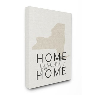 Home Sweet Home New York Typography Stretched Canvas Wall Art