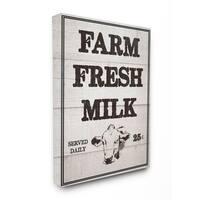 Farm Fresh Milk Vintage Sign Stretched Canvas Wall Art
