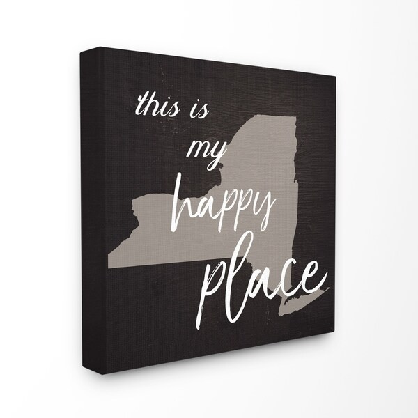 This Is My Happy Place New York Stretched Canvas Wall Art