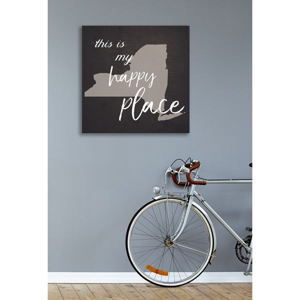 This Is My Happy Place NYC Stretched Canvas Wall Art