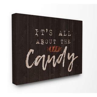 Its All About the Candy Stretched Canvas Wall Art