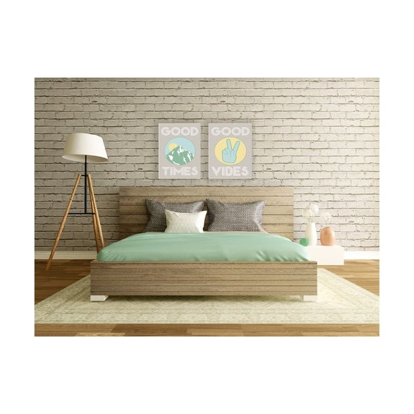 Good Vibes Peace Hand Stretched Canvas Wall Art
