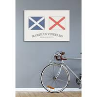 Martha's Vineyard Nautical Flags Stretched Canvas Wall Art