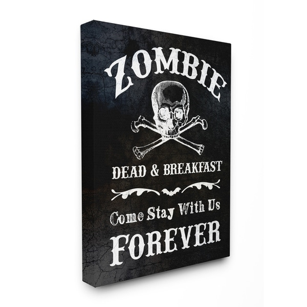 Shop Zombie Bed and Breakfast Stretched Canvas Wall Art - On Sale ...