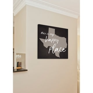 This Is My Happy Place Texas Stretched Canvas Wall Art