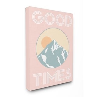 Good Times Mountain Pink Stretched Canvas Wall Art