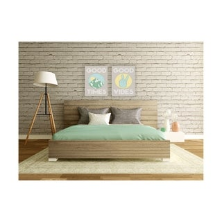 Good Times Mountain Green Stretched Canvas Wall Art