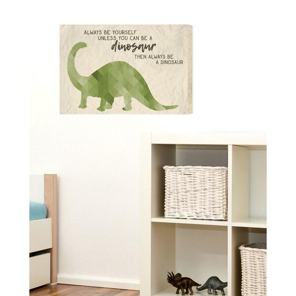 Shop Always Be A Dinosaur Brachiosaurus Stretched Canvas Wall Art ...