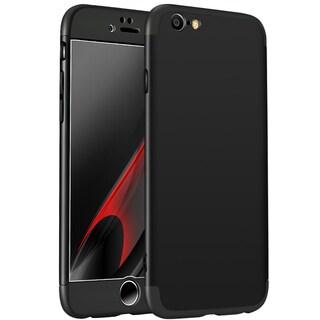 360 Degree Full Cover Case Protector PC Hard Phone Case for iPhone 6/6S Multicolor