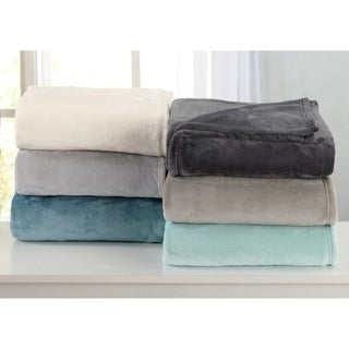 Melinda Collection Ultra Velvet Plush Bed Blanket in Solid Colors (More options available)