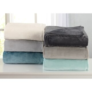 Melinda Collection Ultra Velvet Plush Bed Blanket in Solid Colors