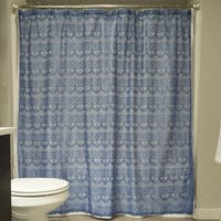 Blueberry Diamond Lace Shower Curtain