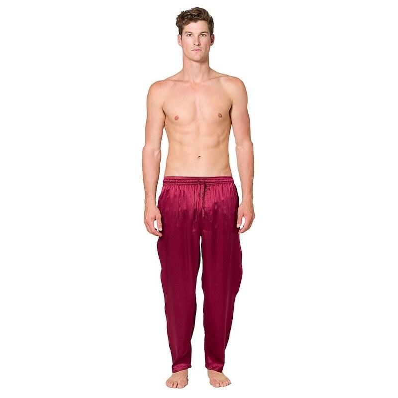 Intimo Men's Silk Lounge pant (Navy (Blue) - Xl)