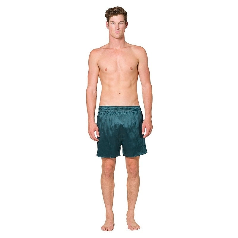 Intimo Big Mens Silk Boxer (forest (Green) - 3XL)