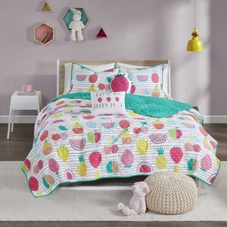 Urban Habitat Kids Water Melly Red/Yellow Cotton Printed 5-piece Coverlet Set