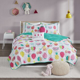Urban Habitat Kids Water Melly Red/Yellow Cotton Printed 5-piece Coverlet Set (2 options available)