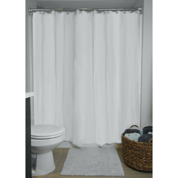 70x71 Inch White Shower Curtain Liner