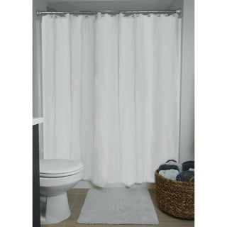 70x71-Inch White Shower Curtain Liner