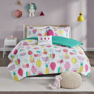 Urban Habitat Kids Water Melly Red/ Yellow Cotton Printed Duvet Cover Set