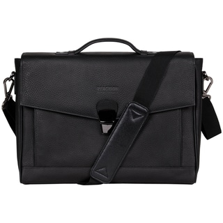 Kenneth Cole Reaction Pebbled Colombian Leather Flapover RFID 13-inch Laptop Briefcase
