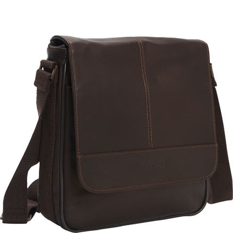 Kenneth Cole Reaction Colombian Leather Flapover Crossbody Tablet Bag