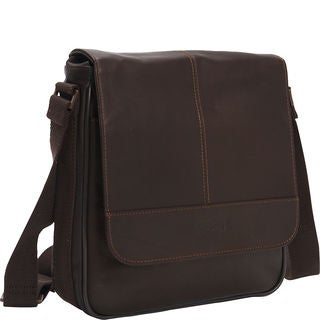 Kenneth Cole Reaction Colombian Leather Flapover Crossbody Tablet Messenger Bag
