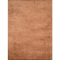 Hand-woven Grandeur Copper Viscose Rug - 5'6 x 8'6