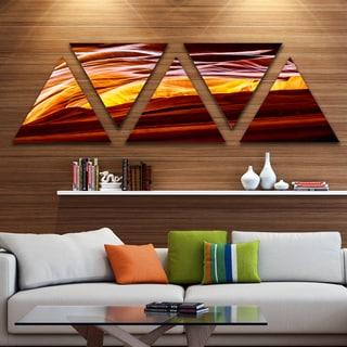 Designart 'Yellow in Antelope Canyon' Landscape Photo Canvas Art Print - Triangle 5 Panels