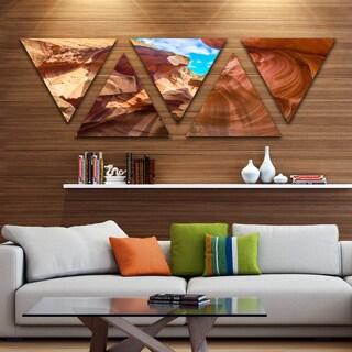 Designart 'Sky from Antelope Canyon' Landscape Photo Canvas Art Print - Triangle 5 Panels