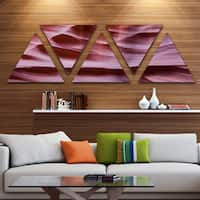 Designart 'Upper Antelope Canyon Details' Landscape Photography Canvas Print - Triangle 5 Panels - Purple