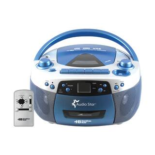 HamiltonBuhl AudioStar Boombox Radio, CD, USB, Cassette Player with Tape and CD to MP3 Converter|https://ak1.ostkcdn.com/images/products/17006907/P23288131.jpg?impolicy=medium