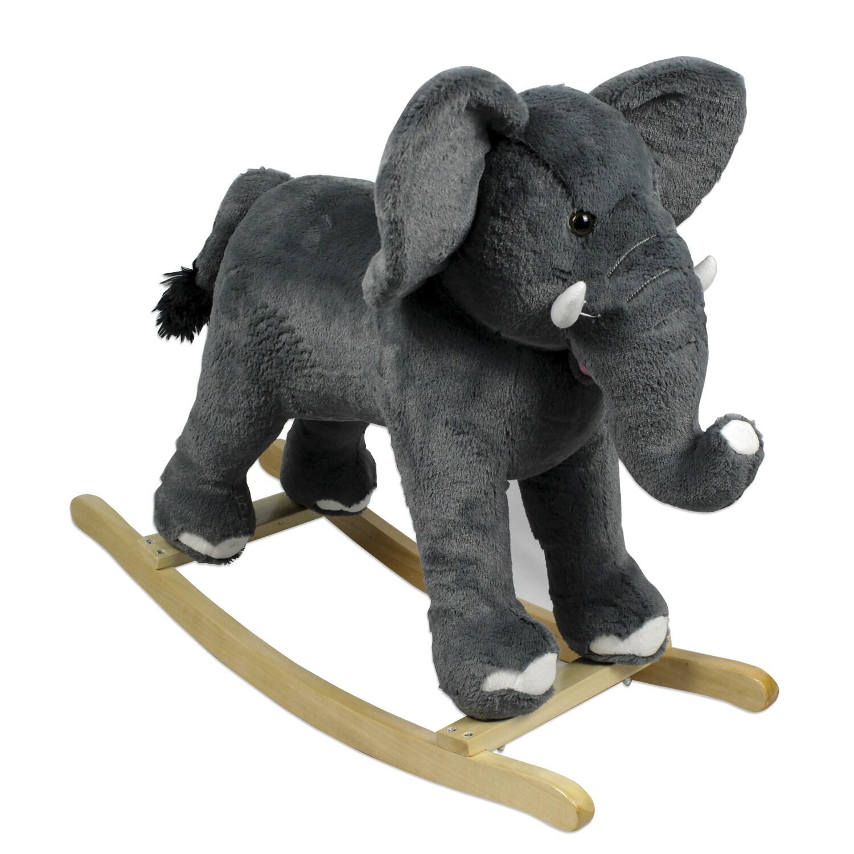 PonyLand Toys Rocking Elephant (Rocking Elephant), Grey