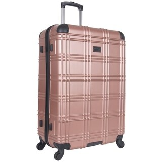 Ben Sherman 'Nottingham' 28-inch Lightweight Hardside 4-wheel Spinner Upright Checked Suitcase