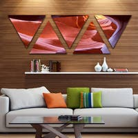 Designart 'Sandstone Waves in Canyon' Landscape Photography Canvas Print - Triangle 5 Panels - Brown