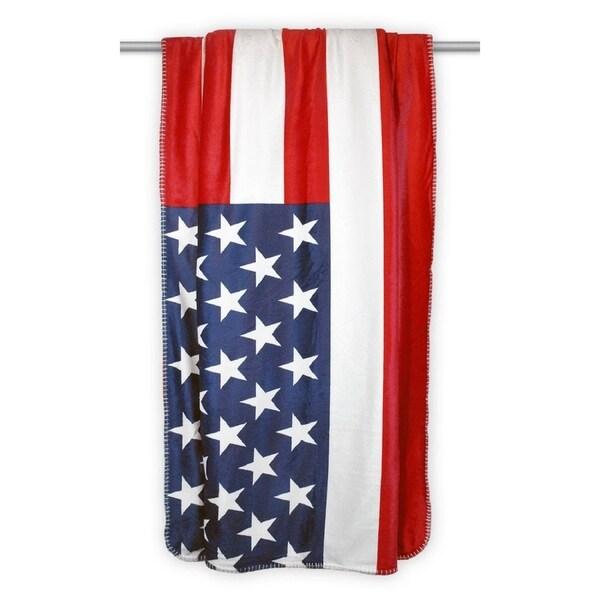 USA Flag Sherpa Throw