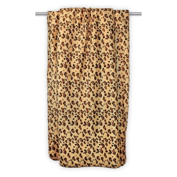 Leopard Sherpa Throw