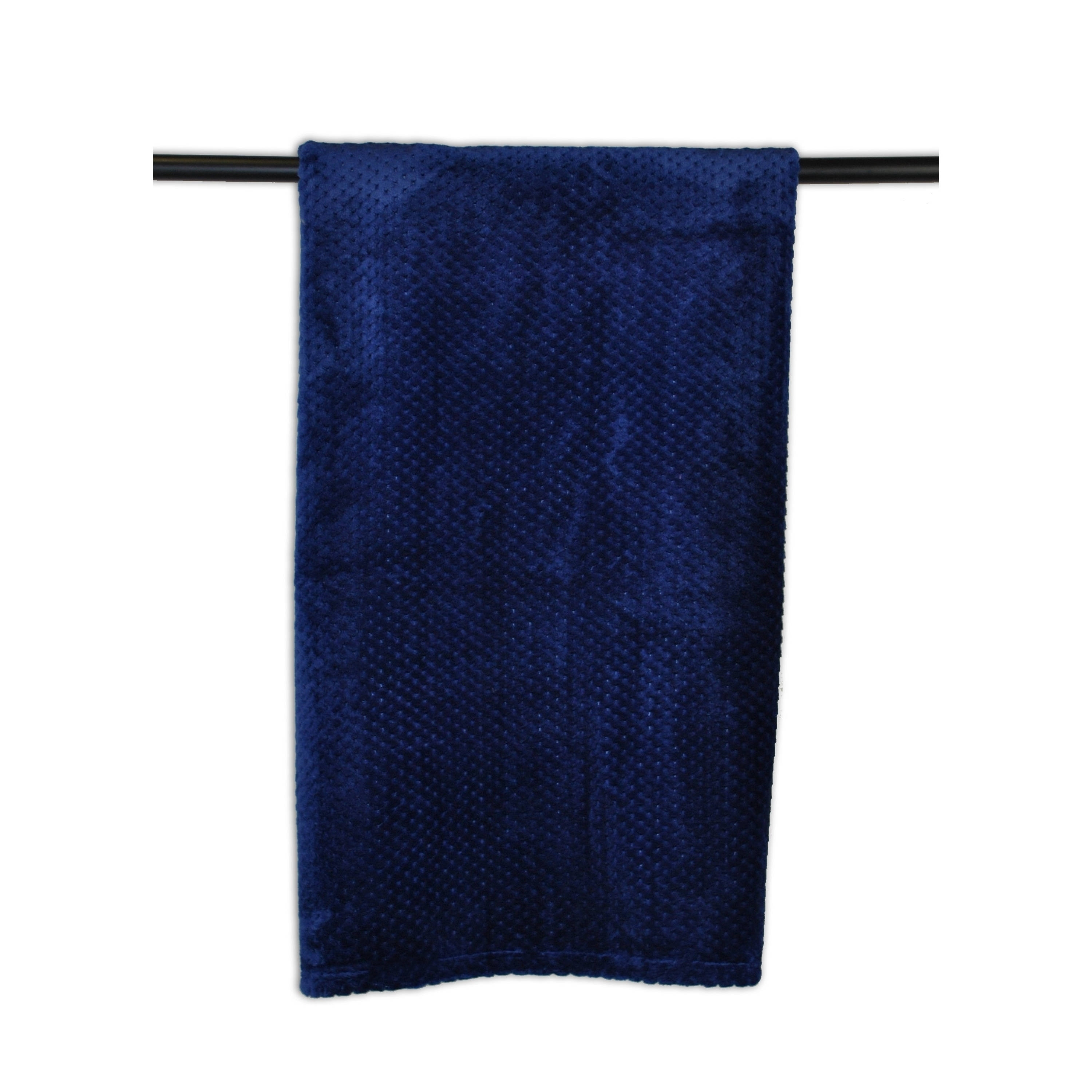 Medium Blue Stadium Throw (Navy) (Polyester, Solid Color)