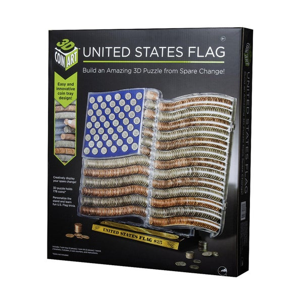 United States Flag 3D Coin Art
