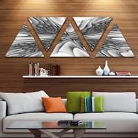 Designart 'Fractal 3D Magical Depth' Contemporary Canvas Art Print - Triangle 5 Panels