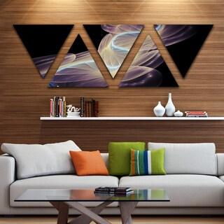 Designart 'Elegant Fantasy Fractal Design' Contemporary Canvas Wall Art Print - Triangle 5 Panels