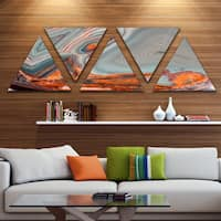Designart 'Beautiful Lake Superior Agate' Contemporary Canvas Art Print - Triangle 5 Panels