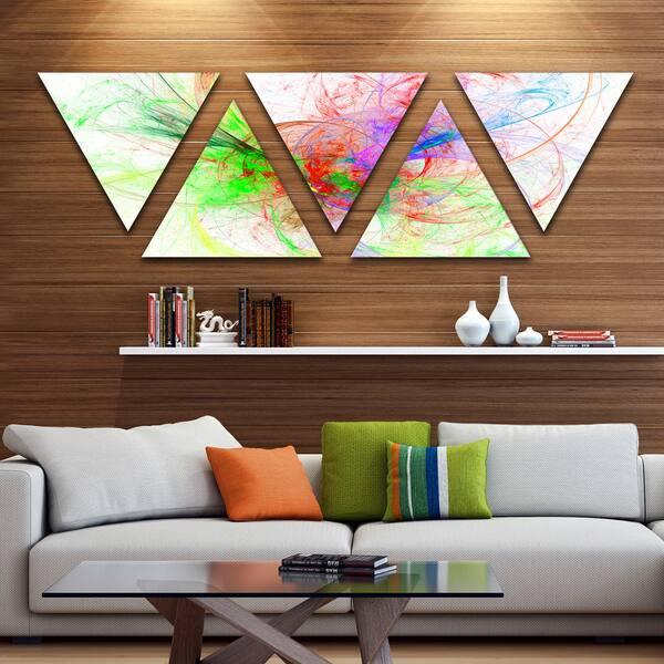 Shop Designart 'Multi Color on White Fractal Design
