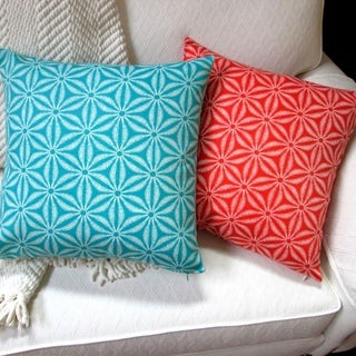 Artisan Pillows 18-inch Indoor/Outdoor Coastal Island Beach House Sea Starfish in Teal or Orange - Pillow Cover Only (Set of 2)